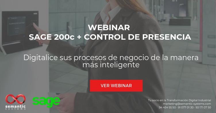 Webinar Sage 200c + Control de Presencia