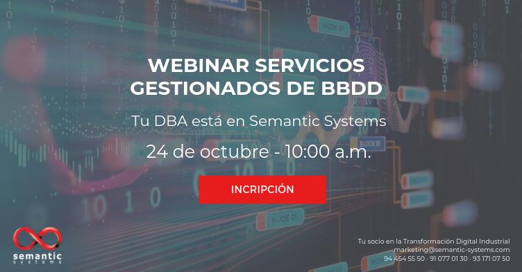 Webinar Servicios Gestionados de BBDD