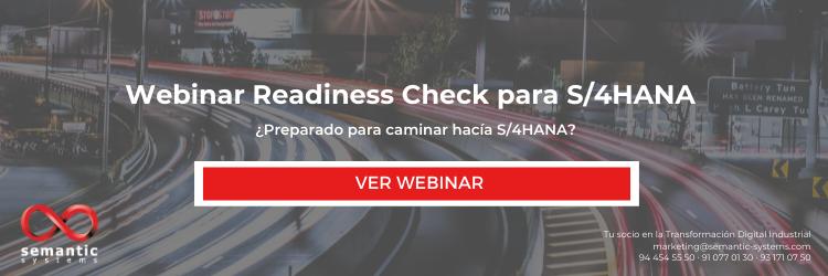 Webinar Readiness Check para S_4HANA