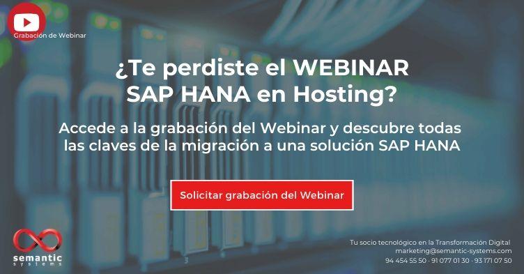 Webinar Sap Hana en Hosting - Semantic Systems
